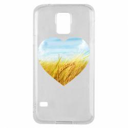 Чохол для Samsung S5 Пейзаж України в серце