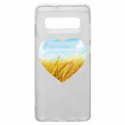 Чохол для Samsung S10+ Пейзаж України в серце