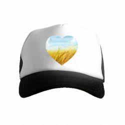 Дитяча кепка-тракер Пейзаж України в серце
