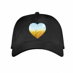 Дитяча кепка Пейзаж України в серце