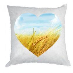 Подушка Пейзаж України в серце