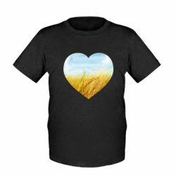 Дитяча футболка Пейзаж України в серце