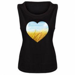 Майка жіноча Пейзаж України в серце
