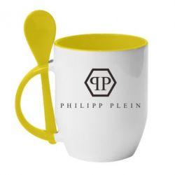 Кружка з керамічною ложкою Philipp Plein - FatLine