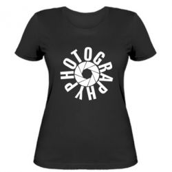 Женская футболка Photography