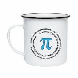 Кружка емальована Pi