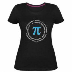 Жіноча стрейчева футболка Pi