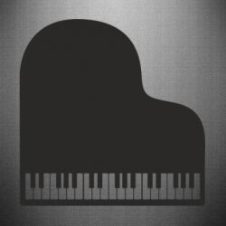 Наклейка Piano in the heart