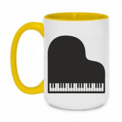 Кружка двоколірна 420ml Piano in the heart
