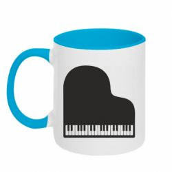 Кружка двоколірна 320ml Piano in the heart