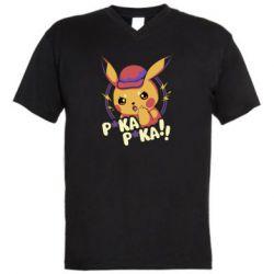 Мужская футболка  с V-образным вырезом Pica-Pica