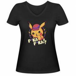 Женская футболка с V-образным вырезом Pica-Pica