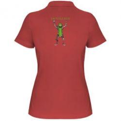 Жіноча футболка поло Pickle Rick
