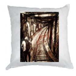 Подушка Picture of a tunnel with sleepers