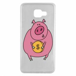 Чохол для Samsung A7 2016 Pig and $