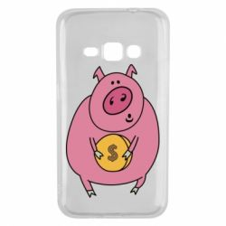 Чохол для Samsung J1 2016 Pig and $