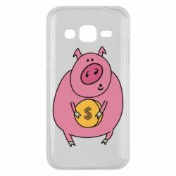 Чохол для Samsung J2 2015 Pig and $