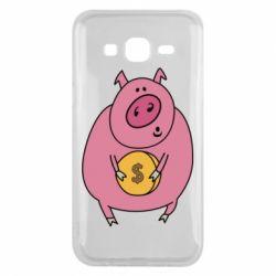 Чохол для Samsung J5 2015 Pig and $