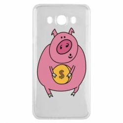 Чохол для Samsung J7 2016 Pig and $