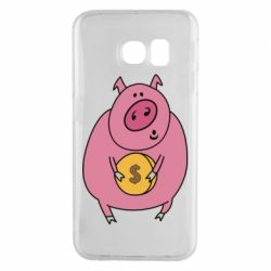 Чохол для Samsung S6 EDGE Pig and $