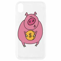 Чохол для iPhone XR Pig and $