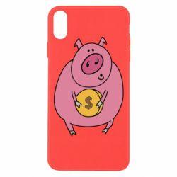 Чохол для iPhone Xs Max Pig and $