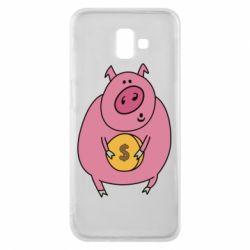 Чохол для Samsung J6 Plus 2018 Pig and $