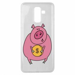 Чохол для Samsung J8 2018 Pig and $