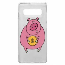 Чохол для Samsung S10+ Pig and $