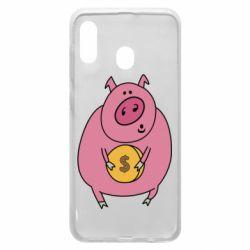 Чохол для Samsung A20 Pig and $