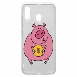 Чохол для Samsung A30 Pig and $