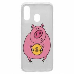 Чохол для Samsung A40 Pig and $