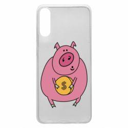 Чохол для Samsung A70 Pig and $