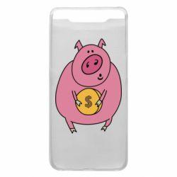 Чохол для Samsung A80 Pig and $