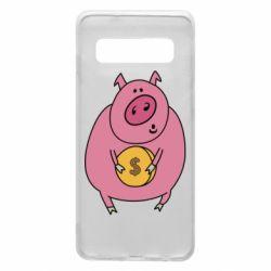 Чохол для Samsung S10 Pig and $