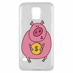 Чохол для Samsung S5 Pig and $