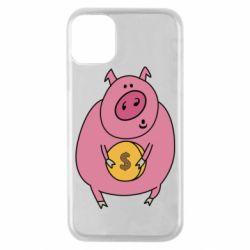 Чохол для iPhone 11 Pro Pig and $