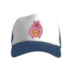 Дитяча кепка-тракер Pig and $