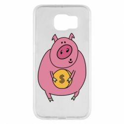 Чохол для Samsung S6 Pig and $
