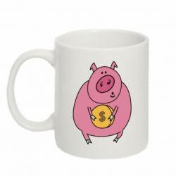 Кружка 320ml Pig and $