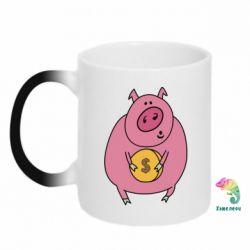 Кружка-хамелеон Pig and $