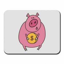 Килимок для миші Pig and $