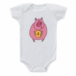 Дитячий бодік Pig and $