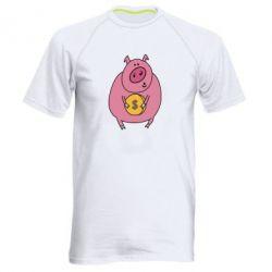 Чоловіча спортивна футболка Pig and $