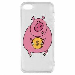 Чохол для iphone 5/5S/SE Pig and $