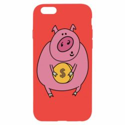 Чохол для iPhone 6/6S Pig and $