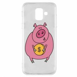 Чохол для Samsung A6 2018 Pig and $