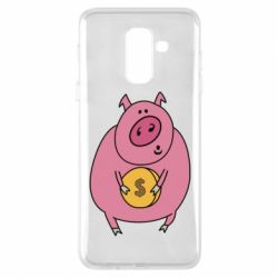 Чохол для Samsung A6+ 2018 Pig and $