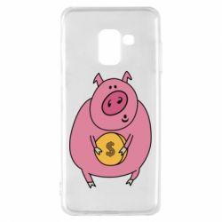 Чохол для Samsung A8 2018 Pig and $