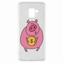 Чохол для Samsung A8+ 2018 Pig and $